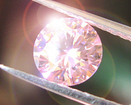 """AMAZING """"HEART and HARROWS"""" PINK CUBIC ZIRCONIA 8,00mm"""
