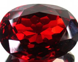 LARGE LAB ZIRCON RED RUBY 278 CARATS GW 1694