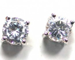 STERLING SILVER EAR RING WITH CZ  DIAMOND STONE   G1675
