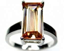 FASHIONABLE MODERN CITRINE-LIKE FLASH RING SIZE 8 SCA311
