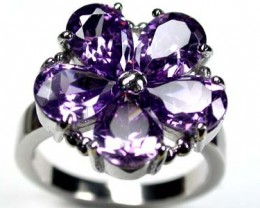 MODERN FASHION AMETHYST LIKE FLOWER RING SIZE 8.5 RO2897