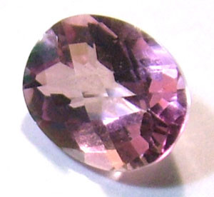 QUARTZ -DOUBLET FACETED  2.65 CTS FP-607 (PG-GR)