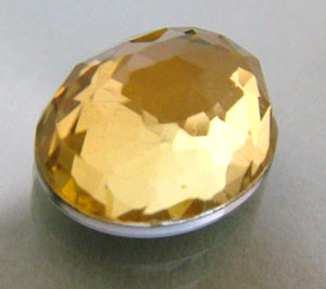 GOLDEN FACETED QUARTZ- DOUBLET 4.10 CTS FP-640 (PG-GR)