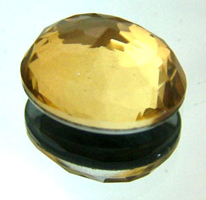 GOLDEN FACETED QUARTZ- DOUBLET 3.95 CTS FP-643 (PG-GR)