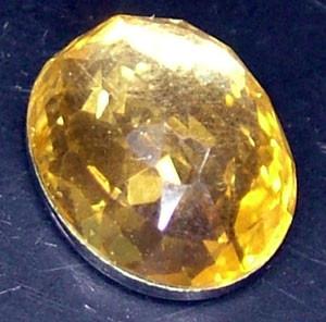 GOLDEN FACETED QUARTZ- DOUBLET 4.05 CTS FP-808 (PG-GR)