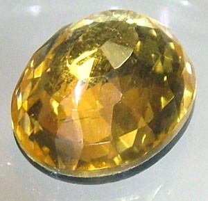GOLDEN FACETED QUARTZ- DOUBLET 4.05 CTS FP-809 (PG-GR)