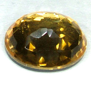 GOLDEN FACETED QUARTZ -DOUBLET 3.75 CTS FP-857 (PG-GR)