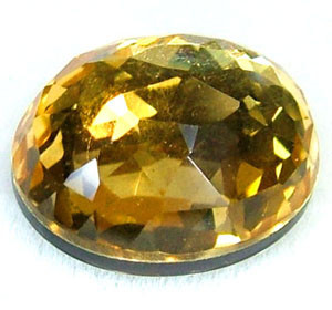 GOLDEN FACETED QUARTZ- DOUBLET 3.85 CTS FP-859 (PG-GR)