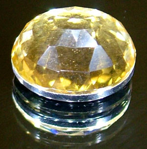 GOLDEN FACETED QUARTZ- DOUBLET 3.70 CTS FP-861 (PG-GR)