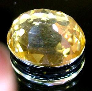 GOLDEN FACETED QUARTZ- DOUBLET 3.75 CTS FP-863 (PG-GR)