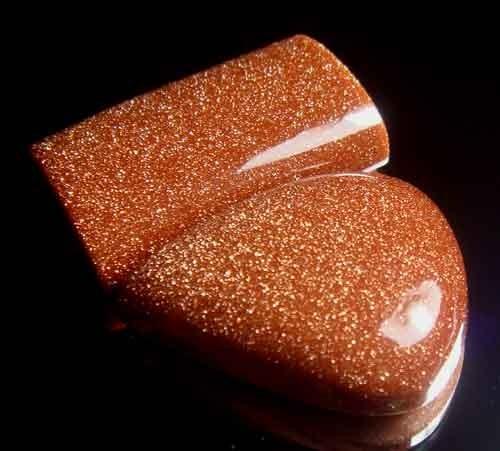 Sparkingly Golden Galaxy Sun Sitara Stone A668