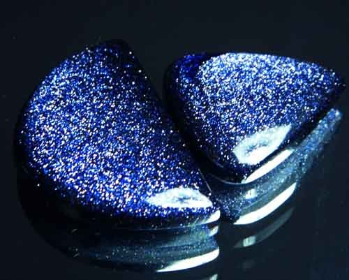 Sparkingly Blue Galaxy Sun Sitara Stone A642