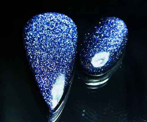 Sparkingly Blue Galaxy Sun Sitara Stone A644