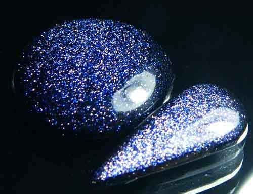 Sparkingly Blue Galaxy Sun Sitara Stone A646