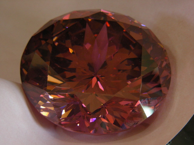 1464   HUGE  FANCY GEM ROSE TOPAZ 11123