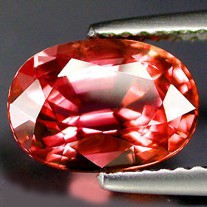 VERY NICE VERNEUIL SAPPHIRE PADPARADSCHA COLOR 6x8MM