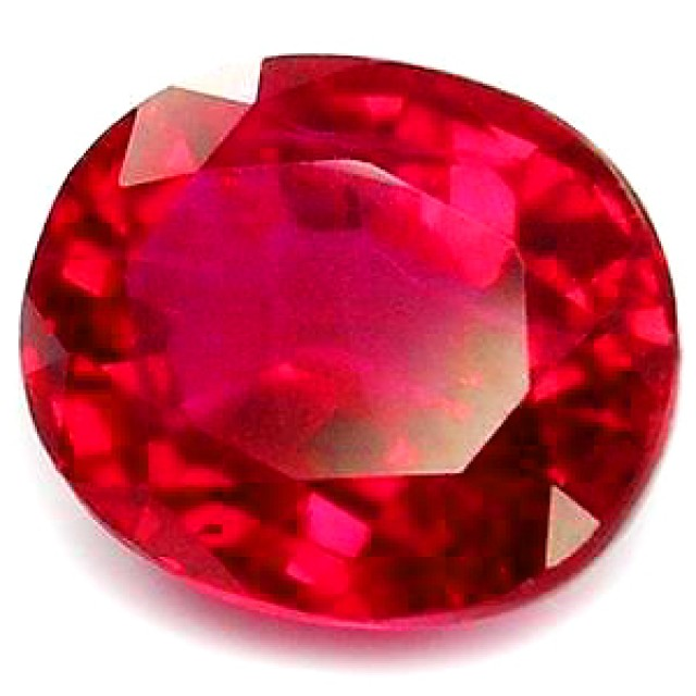 TOP QUALITY BLOOD RED VERNEUIL RUBY 10x12 MM...6,20 CTS