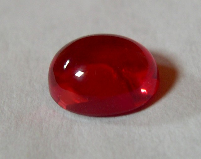 SUPERBE OVAL CABOCHON PADPARADSCHA VERNEUIL SAPPHIRE 8x10mm
