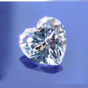 BEAUTIFUL PAIR (2 PIECES) DIAMOND CZ HEART SHAPE 5x5 MM