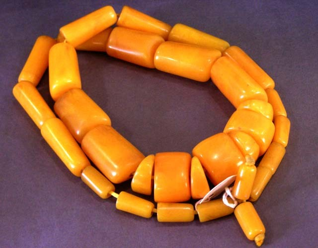 725  CTS LARGE AMBER  RESIN TRIBAL  NECKLACE  11 669