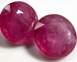 NATURAL RUBY PAIR 2.95 CARATS RO1006