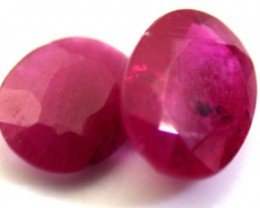 PAIR NATURAL RUBY  1.45 CARATS RO 1148