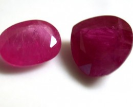 PAIR NATURAL RUBY  1.65 CARATS RO 1170