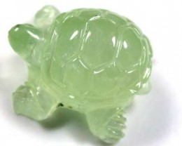 HANDCARVED LUCKY TURTLE PREHNITE  10.5 CARATS RO 1384