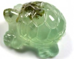 HANDCARVED LUCKY TURTLE PREHNITE  20.2CARATS RO 1389
