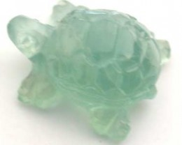 HANDCARVED LUCKY TURTLE PREHNITE  7.9 CARATS RO 1396