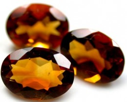 NATURAL CITRINE OVAL SHAPE 3pcs 1.95 CARATS ROI 1483