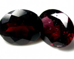 NATURAL GARNET OVAL SHAPE 2pcs 6 CARATS ROI 1515