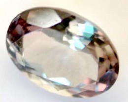 NATURAL CLEAR TOURMALINE OVAL CUT  0.9 CARATS RO 1593