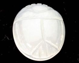 CABOCHON MOONSTONE  SCARAB  3.9   CARATS  RO2681