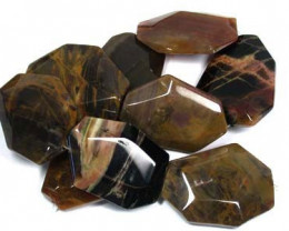 OCTAGONAL AGATE  NATURAL  LARGE STRAND BEADS   RO3376