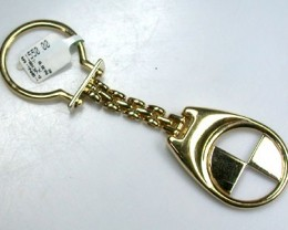 18 K GOLD  FINDING POLISHED BMW KEY CHAIN L290