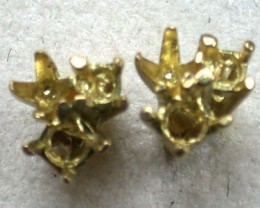 18 K GOLD PAIR EARRING FINDINGS POLISHED READY TO SET L305