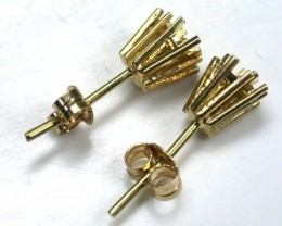 18 K GOLD PAIR EARRING FINDINGS POLISHED READY TO SET L309