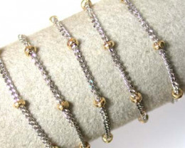 STUNNING 18 K GOLD CHAIN,2 TONE COLOURS  L316