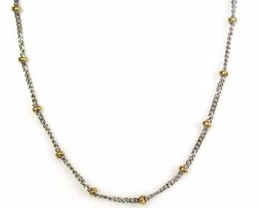 STUNNING 18 K GOLD CHAIN,2 TONE COLOURS  L317