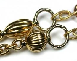 18K ITALIAN GOLD  CHAIN, 50 CM LONG 23.1  GRAMS L371