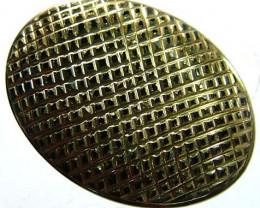 BLACK ONYX 24K GOLD ENGRAVED 36 CTS FS 2086 (TBO)