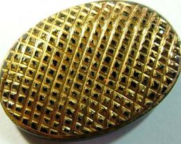 BLACK ONYX 24K GOLD ENGRAVED 23 CTS TBG-2150