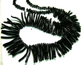 BLACK CORAL NECKLACE 43 GMS/ 215 CTS LG-912