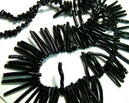 BLACK CORAL NECKLACE 37 GMS/ 185 CTS LG-915