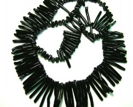 BLACK CORAL NECKLACE 37 GMS/ 185 CTS LG-913