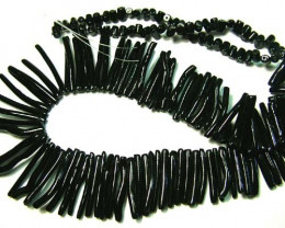 175 cts BLACK CORAL NECKLACE  LG-919