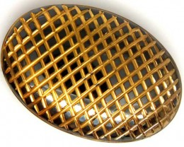 BLACK ONYX 24K GOLD ENGRAVED 49 CTS LG-651