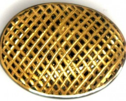 BLACK ONYX 24K GOLD ENGRAVED 26 CTS LG-670