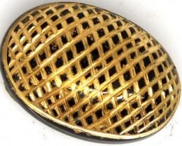 BLACK ONYX 24K GOLD ENGRAVED 20 CTS LG-650